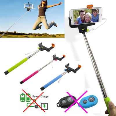 Wired Handheld Monopod for Selfie Extendable 2-in-1